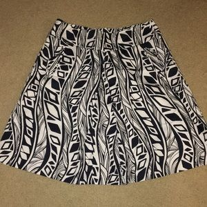 Navy blue pattern skirt